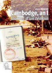 Cambodge An 01 - Couverture - Format classique