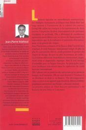 Droit bancaire international - 4ème de couverture - Format classique
