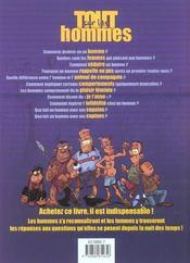 Tout Sur Les Hommes - 4ème de couverture - Format classique