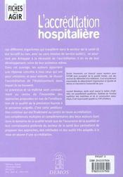 Accreditation Hospitaliere - 4ème de couverture - Format classique
