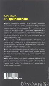 Meurtres En Quinconce - 4ème de couverture - Format classique