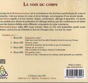 Voix Du Corps - 4ème de couverture - Format classique