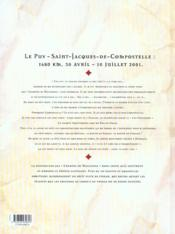 Carnets de Saint-Jacques de Compostelle - 4ème de couverture - Format classique