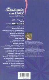 Randonnees Sur Les Sentiers Du Pays Basque - 4ème de couverture - Format classique