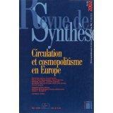 Revue De Synthese N.123 ; Circulation Et Cosmopolitisme En Europe - Couverture - Format classique