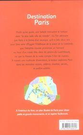 Destination Paris - 4ème de couverture - Format classique