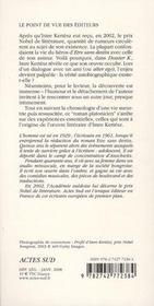 Dossier K. - 4ème de couverture - Format classique
