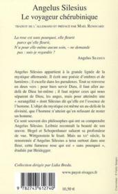 Le voyageur chérubinique - 4ème de couverture - Format classique