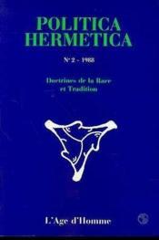 P2 Politica Hermetica 1988 - Couverture - Format classique