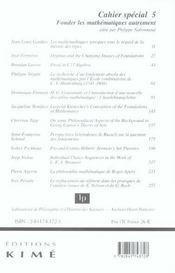 Cahier spécial - 4ème de couverture - Format classique