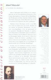 Albert Thibaudet - 4ème de couverture - Format classique