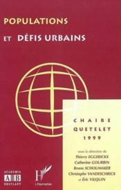 Populations Et Defis Urbains - Couverture - Format classique