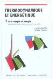 Thermodynamique Et Energetique Volume1 4eme Edition - Intérieur - Format classique