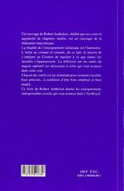 Symbolique maconnique des outils - 4ème de couverture - Format classique