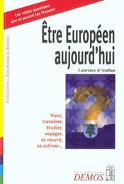Etre Europeen Aujourd'Hui - Intérieur - Format classique