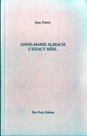Anne-marie albiach exact reel - Couverture - Format classique