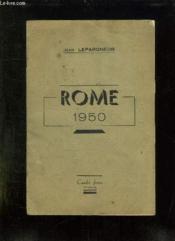 Rome 1950. - Couverture - Format classique