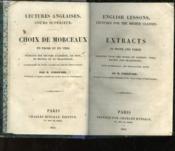 Lectures Anglaises - Cours Superieur - Choix De Morceaux En Prose Et En Vers - Couverture - Format classique