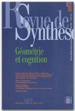 Revue De Synthese N.124 ; Géométrie Et Cognition - Couverture - Format classique