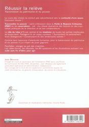 Reussir La Releve - 4ème de couverture - Format classique