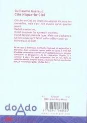 Cite nique-le-ciel - 4ème de couverture - Format classique
