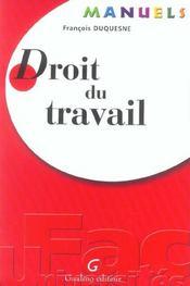 Manuel De Droit Du Travail - Intérieur - Format classique