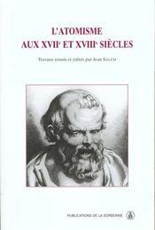 Atomisme Aux Xviie Et Xviiie Siecles - Intérieur - Format classique