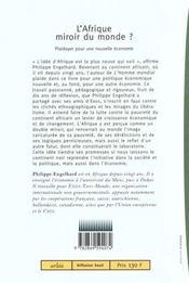 L'Afrique, Miroir Du Monde - 4ème de couverture - Format classique