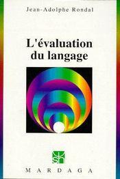 L'évaluation du langage - Couverture - Format classique