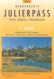 Julierpass pédestre - Couverture - Format classique