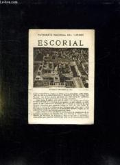 Escorial. Texte En Espagnol. - Couverture - Format classique