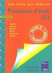 Initiation à la production d'écrits ; CE1 - Intérieur - Format classique