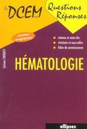 Hematologie - Intérieur - Format classique