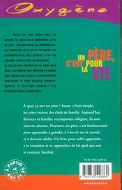 Un Pere, C'Est Pour La Vie - 4ème de couverture - Format classique