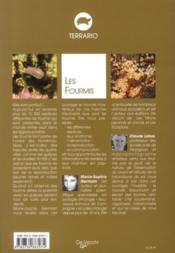 Les fourmis ; espèces ; comportement ; reproduction ; alimentation ; soins quotidiens - 4ème de couverture - Format classique
