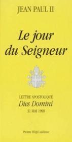 Lettre apostolique dies domini ; le jour du seigneur - Couverture - Format classique