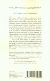 Dictionnaire des lieux imaginaires - 4ème de couverture - Format classique