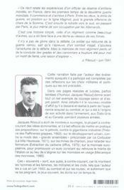 Souvenir D'Une Bataille Perdue 1939-1940 - 4ème de couverture - Format classique