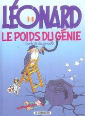 Léonard t.14 ; le poids du génie - Intérieur - Format classique