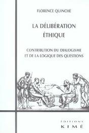 Deliberation Ethique (La) - Intérieur - Format classique