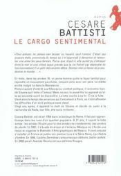 Le Cargo Sentimental - 4ème de couverture - Format classique