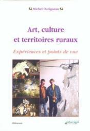 Art, culture et territoires ruraux - Couverture - Format classique