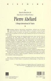 Pierre Abelard - 4ème de couverture - Format classique
