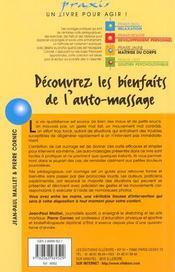 Découvrez les bienfaits auto-massage - 4ème de couverture - Format classique