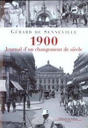 1900, journal d'un changement de siecle - Intérieur - Format classique