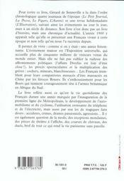 1900, journal d'un changement de siecle - 4ème de couverture - Format classique