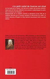 Mademoiselle de la ralphie - 4ème de couverture - Format classique