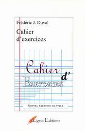 Cahier d'exercices - Intérieur - Format classique