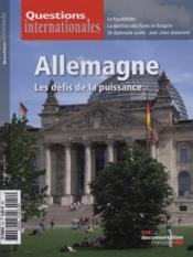 Revue Questions Internationales N.54 ; Allemagne ; Les Défis De La Puissance  - Revue Questions Internationales