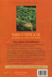 Purin D'Ortie & Cie - 33 Plantes Pour Le Bonheur Du Jardin ! - 4ème de couverture - Format classique